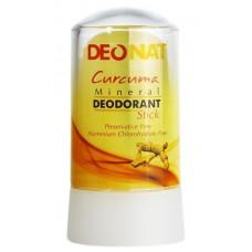 Дезодорант-стик минеральный   ЭКСТРАКТ КУРКУМЫ   желтый   60g DeoNat