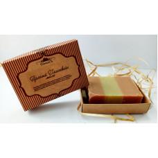 Натуральное мыло ручной работы  ПРЯНЫЙ ГЛИНТВЕЙН  для всех типов кожи, очищает, тонизирует, оказывает бактерицидное действие (подарочная упаковка)  100g СпивакЪ
